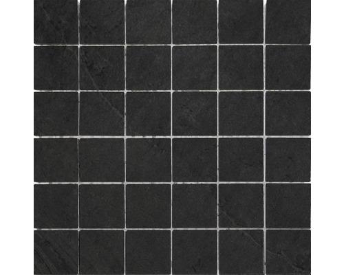 Feinsteinzeug Mosaik Rubi grafito 30x30 cm