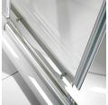 Eckeinstieg Schiebetür 4-teilig Breuer Fara 4 80-90 cm Höhe 185 cm Kunstglas Perle Profilfarbe silber matt