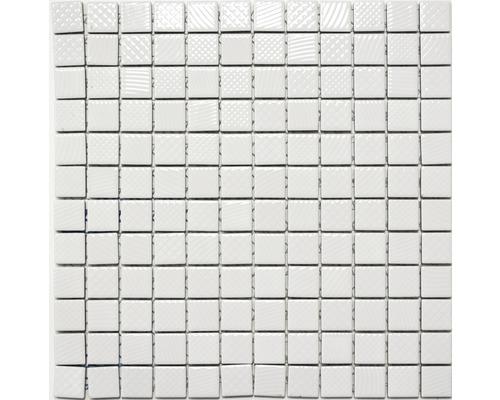 Keramikmosaik CG 456 weiß glänzend 30x30 cm