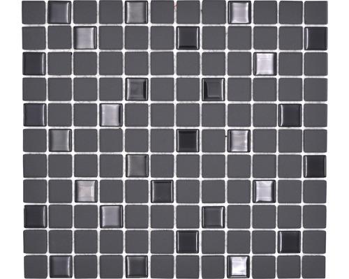 Keramikmosaik CU G70 schwarz 32,7x30,2 cm