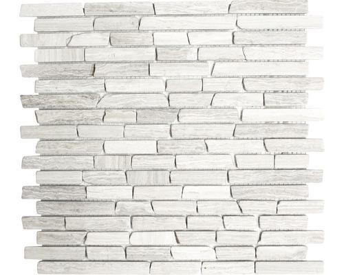 Natursteinmosaik MOS Brick 2012 grau 30,5x32,2 cm