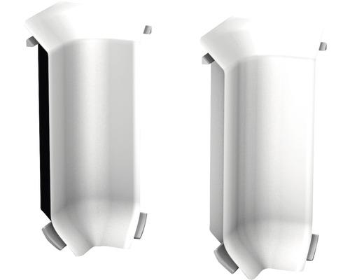 Innenecken (2) silber für Kern-Sockelleiste 60 mm
