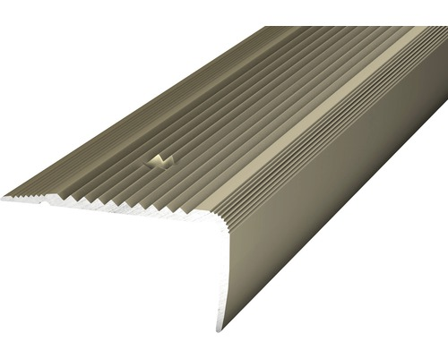 Treppenkantenprofil Alu NOVA gelocht edelstahl 45x23x2700 mm