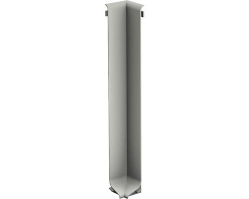 Innenecke für Aluminium-Sockelleiste titan 100 mm