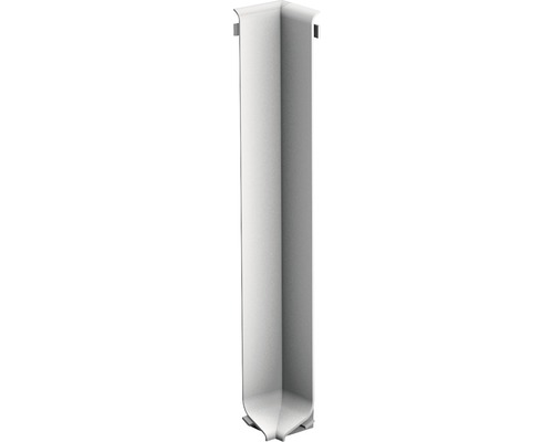 Innenecke für Aluminium-Sockelleiste silber 100 mm