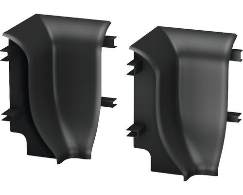Innenecken (2) graphit für geschäumte Sockelleiste 48 mm