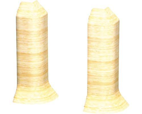 Außenecken (2) ahorn für Kern-Sockelleiste 60 mm