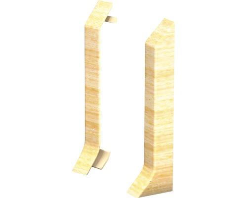 Endstücke (links+rechts) Ahorn für Kern-Sockelleiste 60 mm