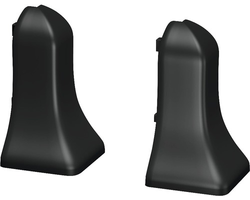 Außenecken (2) graphit für geschäumte Sockelleiste 48 mm