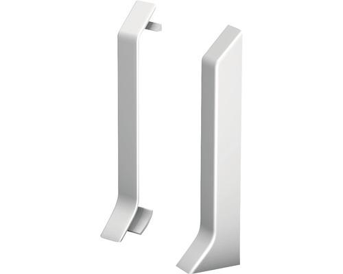 Endstücke (links+rechts) silber für Kern-Sockelleiste 60 mm