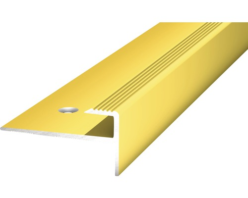 Übergangsprofil Alu gelocht gold 15x1000 mm