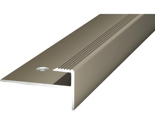 Übergangsprofil Alu gelocht edelstahl matt 15x1000 mm