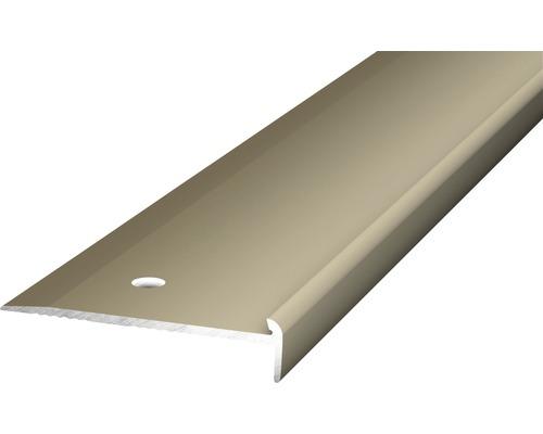 Treppenkantenprofil 48x10 für PVC edelstahl matt 2,5x10x2500 mm