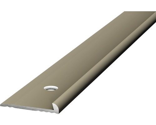 Abschlußprofil Alu für PVC edelstahl matt 2x3x2500 mm