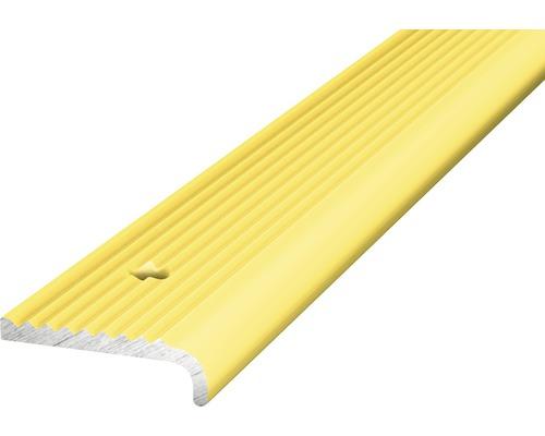 Treppenkantenprofil Alu gelocht gold 23x3x2500 mm
