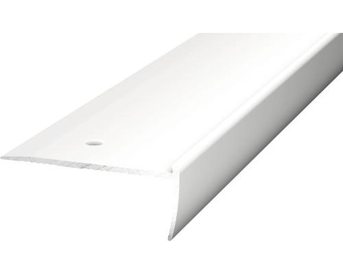 Treppenkantenprofil Alu für PVC silber 2x18,5x2500 mm