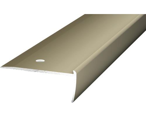 Treppenkantenprofil Alu für PVC edelstahl matt 2s18,5s2500 mm