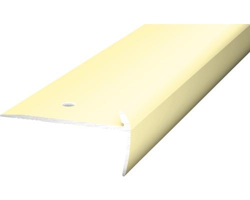 Treppenkantenprofil Alu für PVC sahara 5x21,5x2500 mm