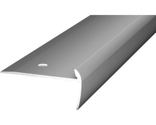 Treppenkantenprofil Alu für PVC edelstahl matt 5x21,5x2500 mm
