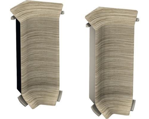 Innenecken (2) Akazie vintage für Kern-Sockelleiste 60 mm