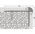 Treppenkantenprofil Alu für PVC edelstahl matt 5x28x2500 mm