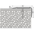 Treppenkantenprofil Alu NOVA gelocht sahara 45x23x2700 mm