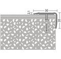 Treppenkantenprofil Alu NOVA gelocht edelstahl 30x20x2500 mm