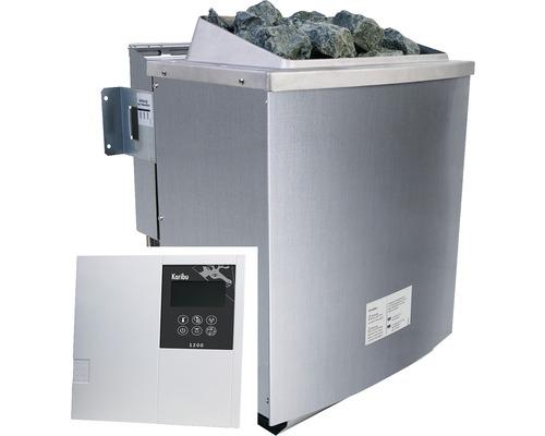 Biokombiofen Karibu 9 kW inkl.ext.Steuerung Bio Classic und integrierte Verdampfereinheit