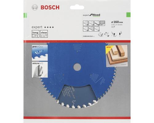 Kreissägeblatt Expert for Wood Bosch 160x20mm 36Z