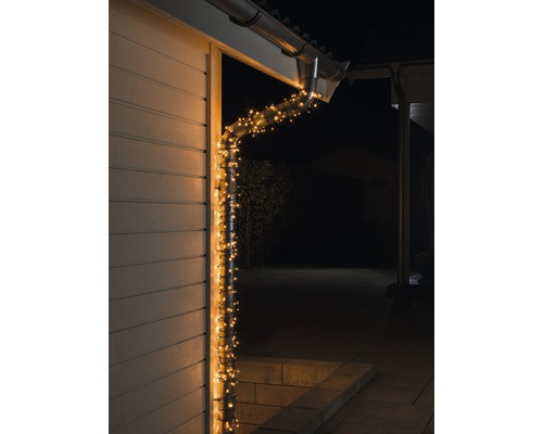 LED Lichterkette Konstsmide Micro außen und innen 200er bernstein