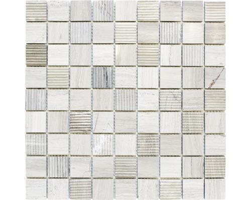 Natursteinmosaik MOS 32/1965 grau 30,5x30,5 cm