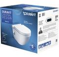 DURAVIT Wand-WC-Set Starck 3 weiß mit WC-Sitz