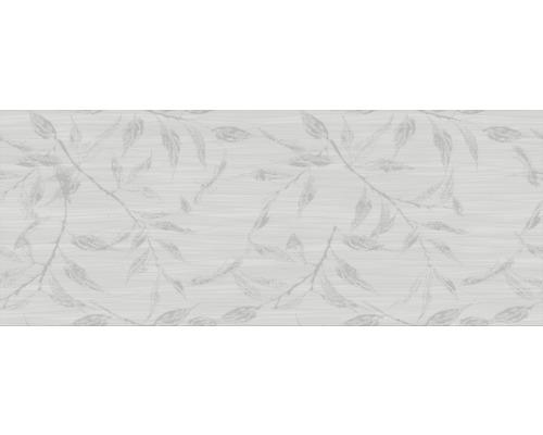 Steingut Dekorfliese Mavi weiß glänzend 20 x 50 cm