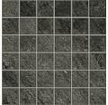 Feinsteinzeugmosaik Discovery Carbon 30x30 cm