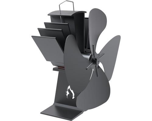 Kaminofen-Ventilator Aduro wärmebetrieben schwarz