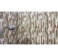 Glasmosaik mit Naturstein XCM MV838 30x30,4 cm braun/weiß/beige