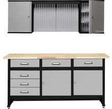 Werkstatt-Set Küpper 1700mm bestehend aus Werkbank und Hängeschrank mit Lochwand