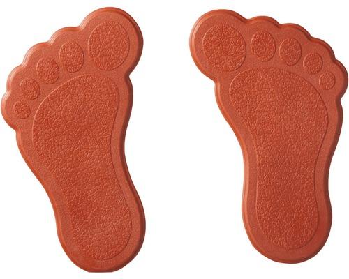 Mini Wanneneinlage Ridder Füße rot 11 x 13 cm