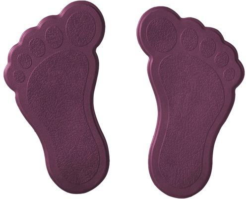 Mini Wanneneinlage RIDDER Füße 11 x 13 cm lila