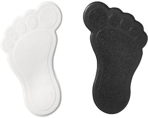 Mini Wanneneinlage Ridder Füße schwarz-weiß 11 x 13 cm