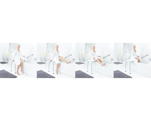 Badewannen-Transferbank höhenverstellbar weiß