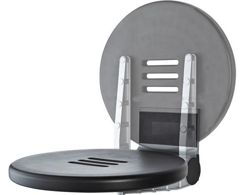 Duschklappsitz Premium klappbar schwarz