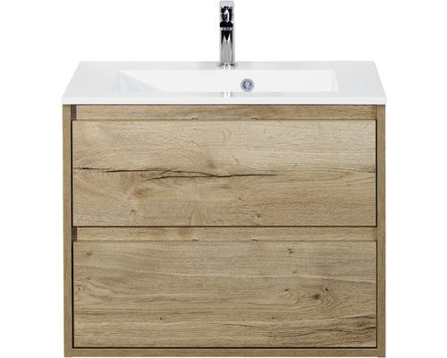 Badmöbel-Set Porto 70 cm mit Waschtisch Eiche natur