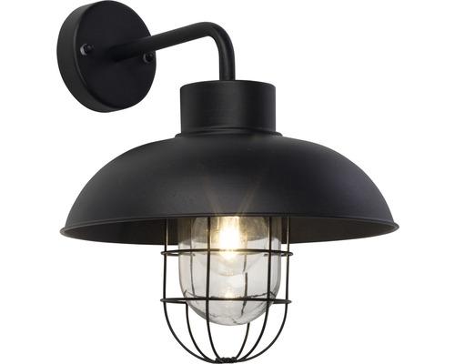 Außenwandeuchte 1-flammig B 240 mm Portland schwarz