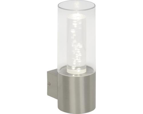 LED Außenwandleuchte 1x6,5W 480 lm 4000 K neutralweiß H 250 mm Arctic edelstahlfarben