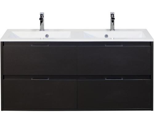 Badmöbel-Set Porto 120 cm mit Doppelwaschtisch Quarz Lava