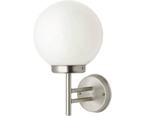 LED Außenwandleuchte 1x5,8W 630 lm 2700 K warmweiß H 320 mm Aalborg edelstahl/weiß