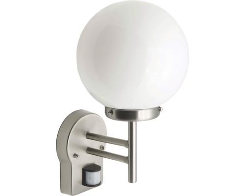 LED Sensor Außenwandleuchte 1x5,8W 630 lm 2700 K warmweiß H 320 mm Aalborg edelstahl/weiß