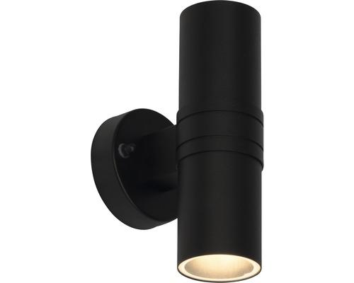 LED Außenwandleuchte 2x3W 2x250 lm 3000 K warmweiß H 200 mm Hanni schwarz