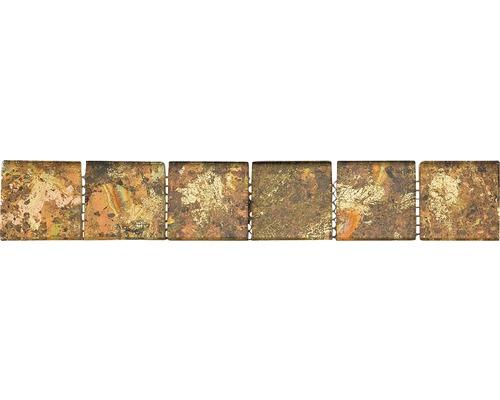 Glasbordüre beige 4,8x30 cm
